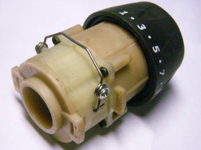Редуктор двухскоростного сетевого шуруповерта с металлическим переключателем