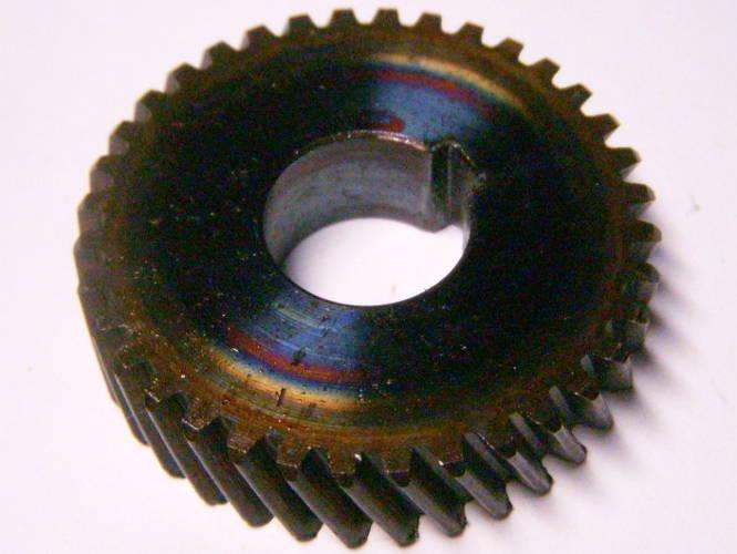 Шестерня диаметром 40 мм на 36 зубов, посадка 14 мм на шпонку для китайского клона дисковой электропилы EuroTek CS221, Rebir KZ, Craft-Tec, Ворскла под якорь 54 мм, высота 10 мм