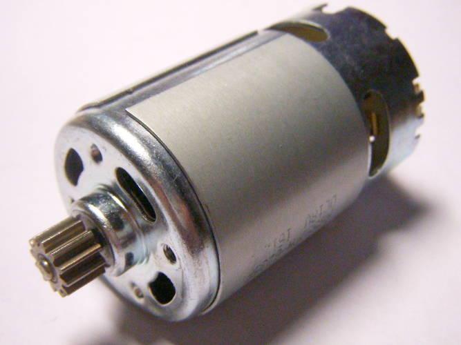 Двигатель на 18 Вольт с 12-ти зубой шестерней для двухскоростного шуруповерта, диаметром 37 мм