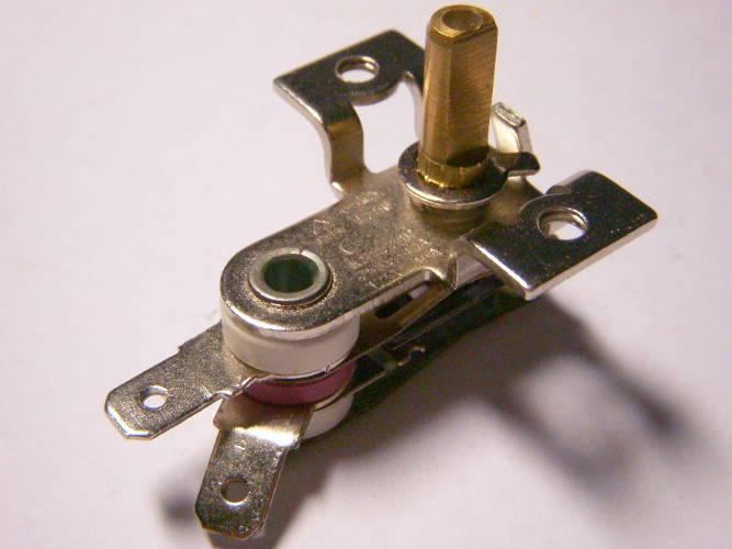 Биметаллический механизм KST228B переключения режимов электродуховки Saturn, Asel AF-0123 с двумя передними контактами, размер 49x33 мм, 10-16Ампер, можно приспособить на электроконвектор CALORE MT-2000SR