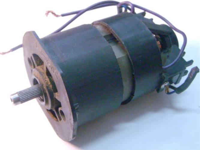 Реставрация якоря и статора двигателя электрокосы с нижним двигателем, перемотка медью, замена ламелей, балансировка, ручная работа