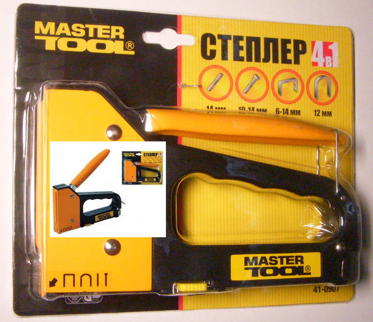 Ручной инструмент - Крепеж и крепежный инструмент - Степлеры - Master Tool 41-0907 4-В-1