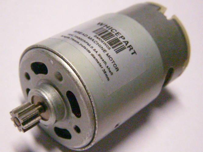 Электродвигатель шуруповерта 18 Вольт с шестерней 9 зубов диаметром 38 мм