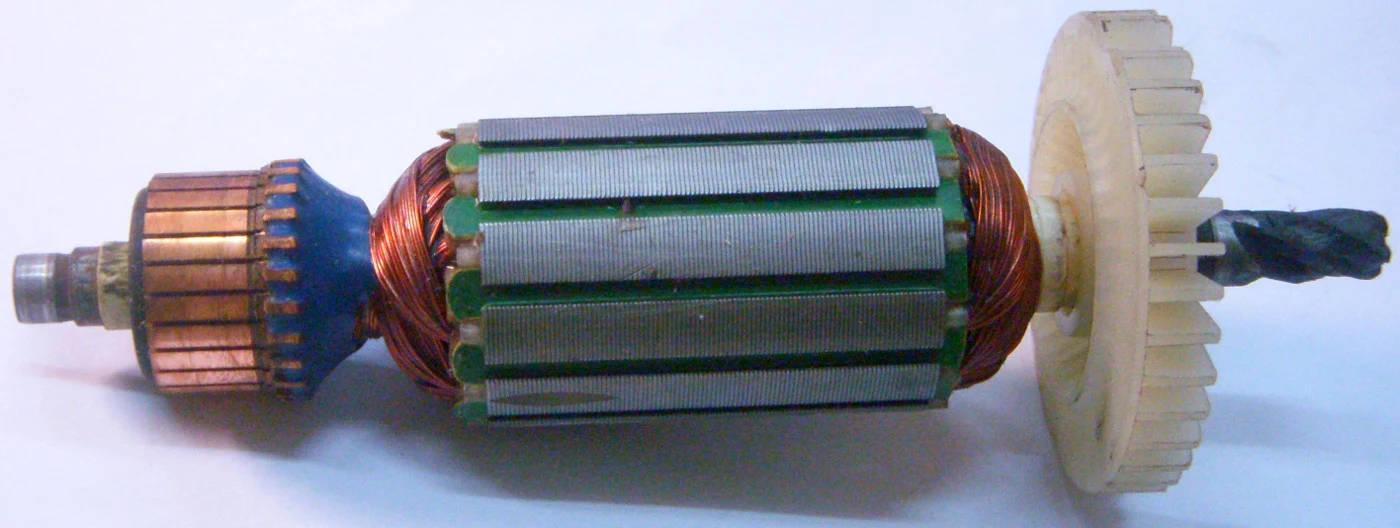 Якорь длиной 154 мм, D 35, 5 зубов право, электродрели Иж-810, Интерскол ДУ 810 13\820 ЭР
