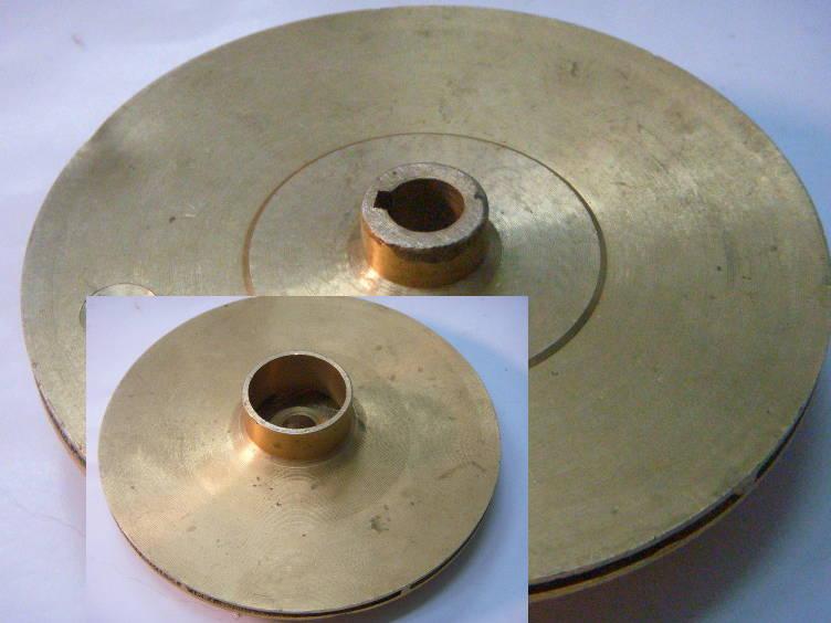 Латунная 127x12-33 мм на шпонке