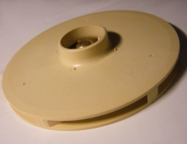 Оригинальная крыльчатка насосной станции Speroni Marina, KLEVER garden tools XG9456,, Зенит ЗНС-1100, внешний размер 120 мм, патрубок 33 мм, внутри бронзовая шаровая вставка с резьбой М8