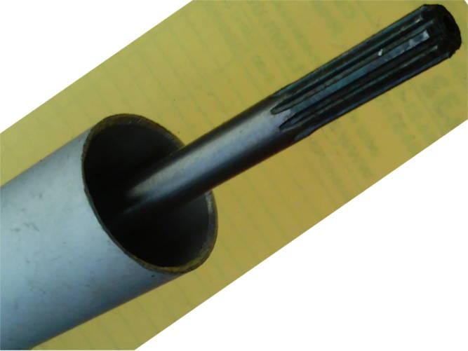 Жесткий вал электрокосы в трубе 1500*25 мм