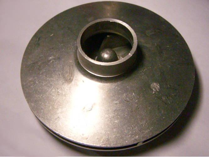 Алюминиевое рабочее колесо 130 мм для насоса БЦ 1,1-20У-1.1