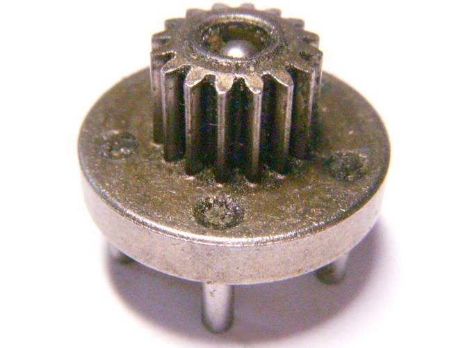 Раздатка вала редуктора шуруповерта на 5 шестерней с центральной шестерней 12.5 мм