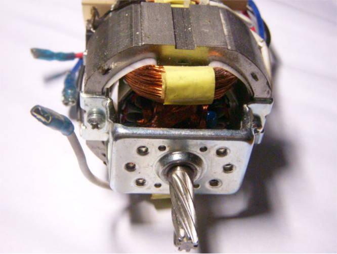 Электродвигатель YK-7625 с валом 28 мм для мясорубки Rainford, Elenberg, Astor, Aurora, Orion, Delfa