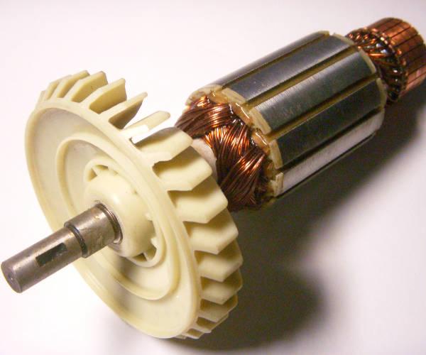 Якорь двигателя цепной пилы KAMA -1 PA6-GF30 2.2 кВт с 405-й шиной
