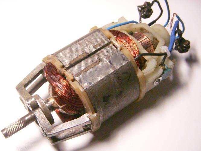 Ремонт двигателя электрокосы 1,2 кВт, если нет повреждений на шлицовом соединении, замена обмотки статора и якоря, замена ламелей, при необходимости подшипников