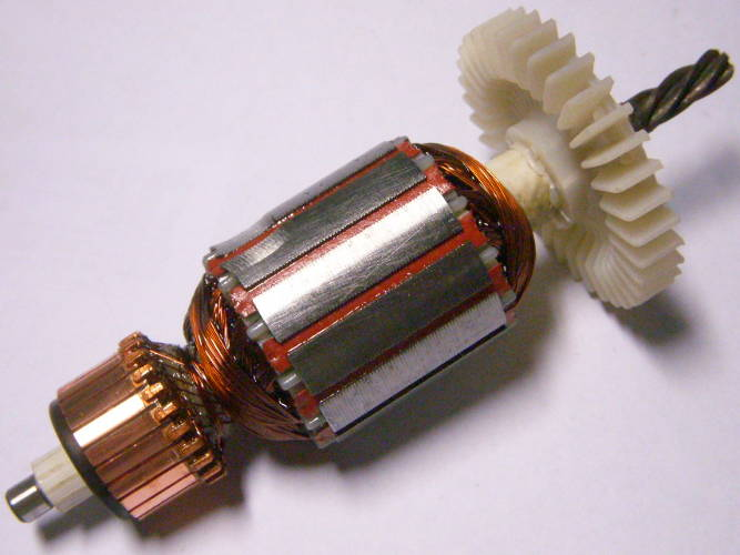 Якорь электродрели ТЕМП ДЭ-550, Craft-Tec, диаметр 35 мм, длина 131 мм, 5 зубов влево