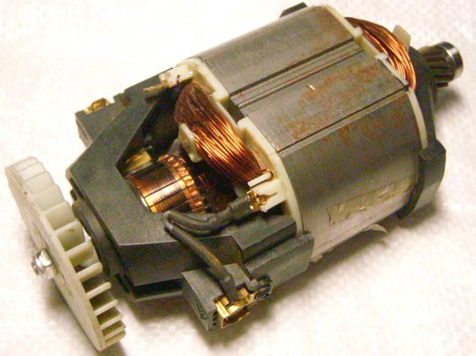 Двигатель электротриммера Бригадир под якорь на шпонке