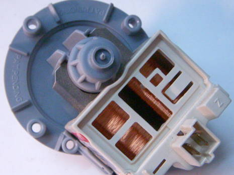 Сливная помпа на 3-х защелках для стиральной машины Samsung WF6450N7, Electrolux, Zanussi, AEG, заменяем Drain B20-6, фишка сзади
