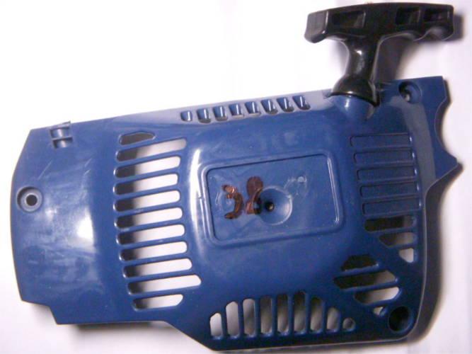 Стартер в сборе с боковой крышкой для бензопилы Байкал 38