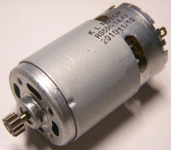 Электродвигатель 14,4 Вольта с шестерней 11 зубов для шуруповерта