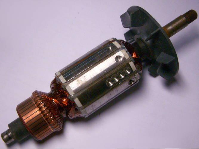 Якорь 43 мм для советского рубанка, Rebir, длиной 191 мм, длина пакета 47 мм, между подшипниками 140 мм