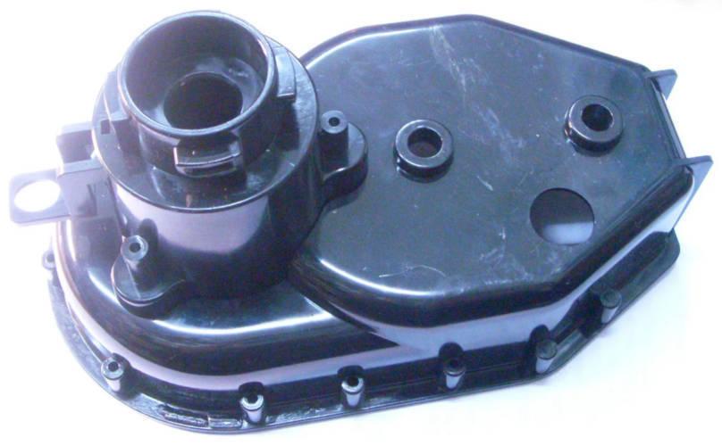 Передняя крышка с переходной муфтой для редуктора электромясорубки типа Elbee 17411, Elbee 17412, Saturn 7095, Delfa