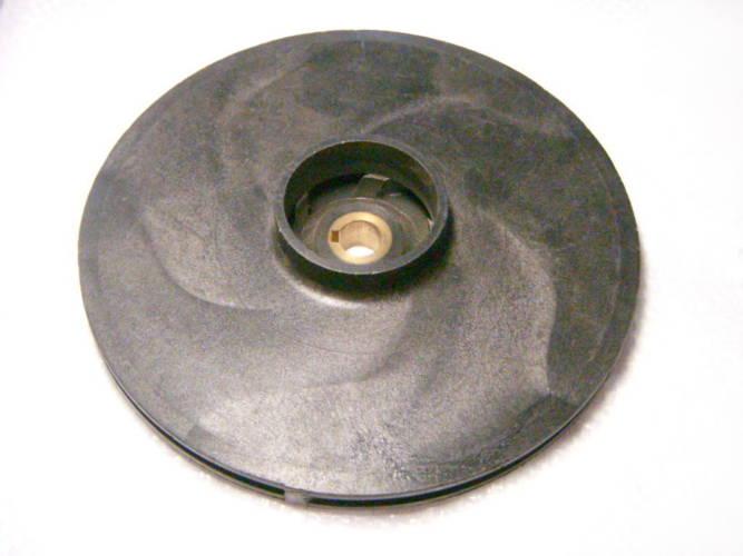 Пластиковое рабочее колесо 155*12*46 мм, к насосу Kenle, Werk CPM-158, диаметр 155 мм, всасывающий патрубок 47 мм, посадка 12 мм на шпонку